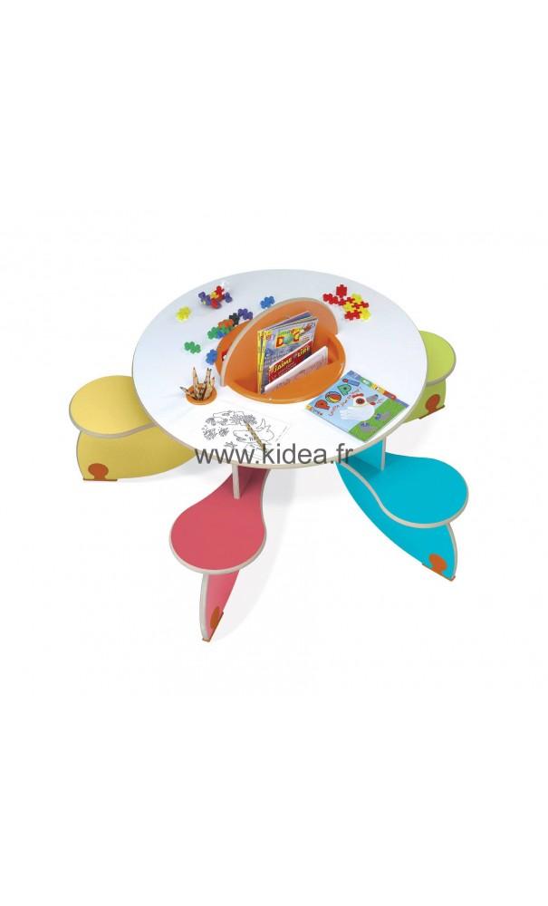 table avec bac jouets pento colors. Black Bedroom Furniture Sets. Home Design Ideas