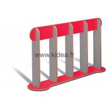 Barrière de délimitation rouge et grise - Hauteur 1 mètre