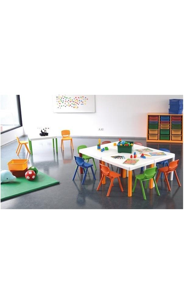 Table et chaise enfant en polypropyl ne pour enfants de for Table 2 en 1