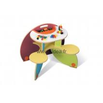 Table à jouer Duo Colors avec bac à jouets