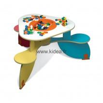 Table à jouer Trio Colors avec bac à jouets