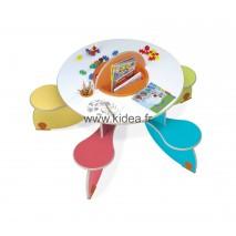 Table à jouer Pento Colors avec bac à jouets