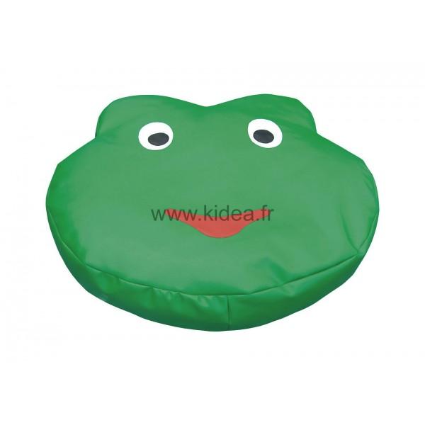 Grand coussin tête de grenouille