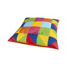 Grand coussin carré - Patchwork