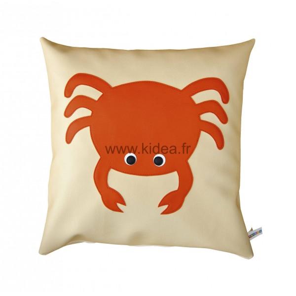Coussin carré - Motif crabe