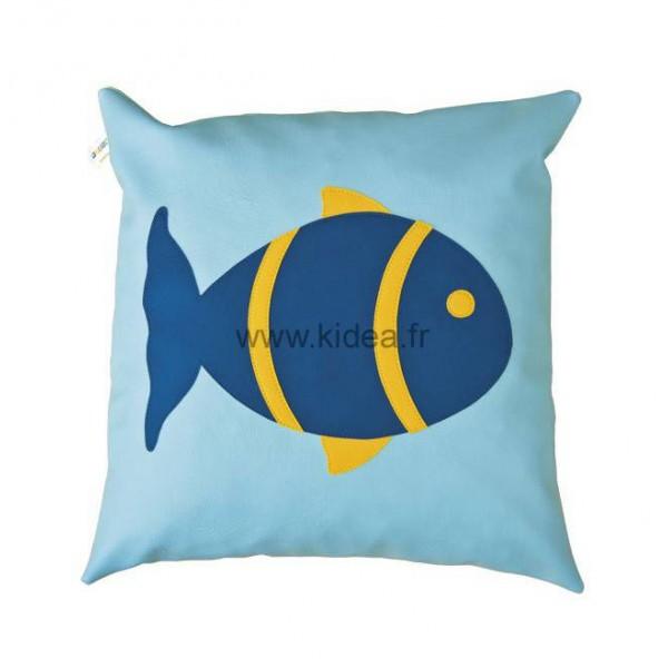 Coussin carré - Motif poisson