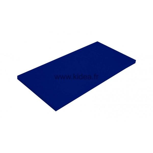 Tapis de gymnastique bleu foncé