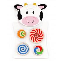 Jouet mural rotatif vache