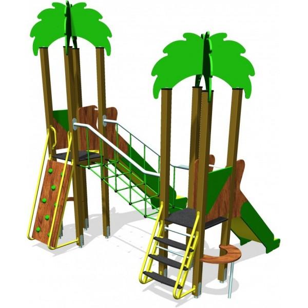 Structure multi-jeux palmier