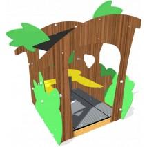 Cabane d'extérieur tropicale