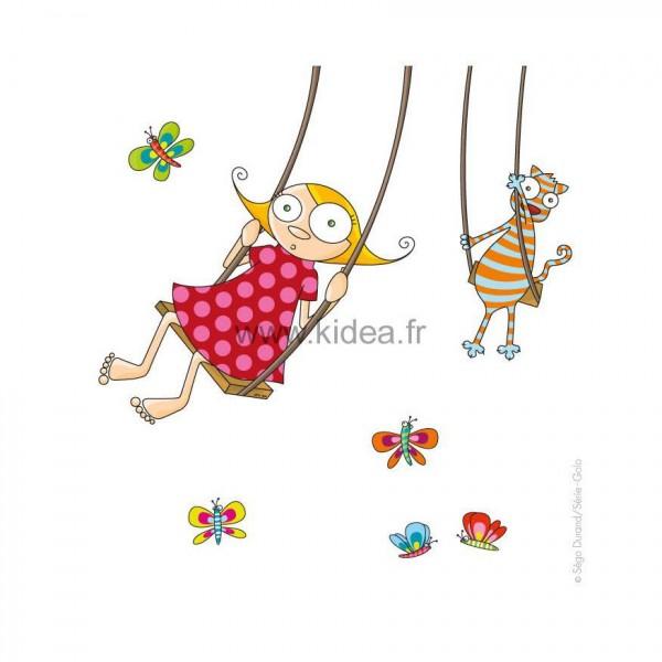 Sticker Balançoire fille
