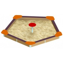 Bac à sable hexagonal