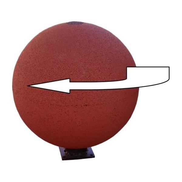 Boule caoutchouc rotative