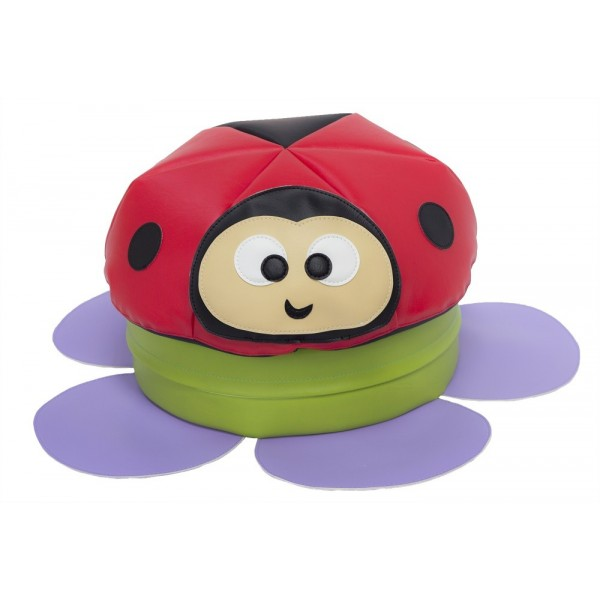 Coussin coin lecture Coccinelle