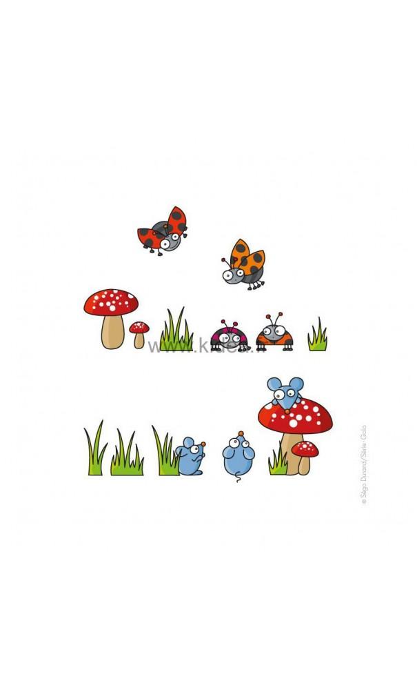 Sticker souris et coccinelles pour une d coration for Decoration professionnelle