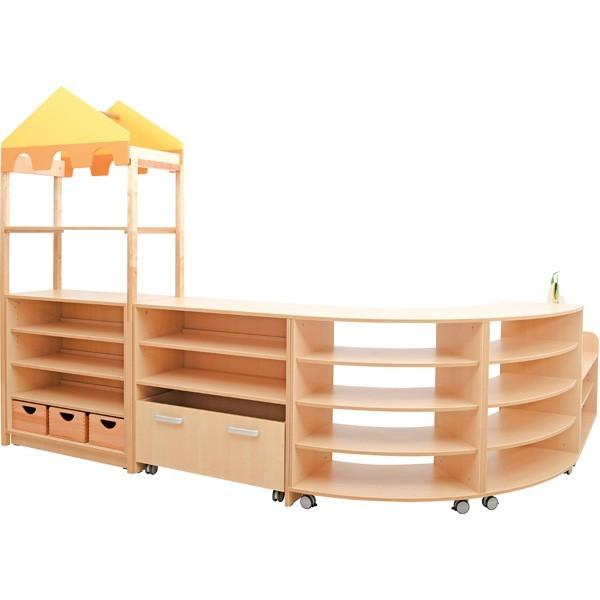 mobilier scolaire d'angle bois
