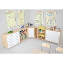 Aménagement d'angle salle de classe