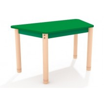 Table trapèze colorée - 40 à 58 cm