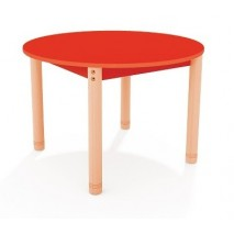 Table ronde colorée - de 40 à 58 cm