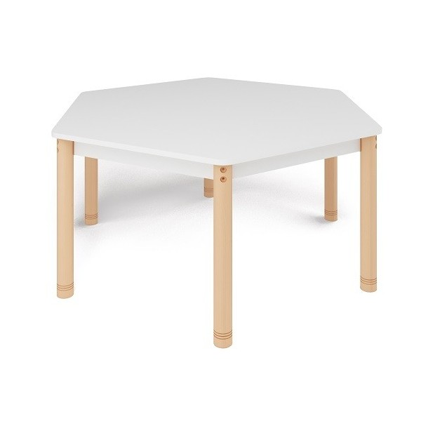 Table trapèze colorée