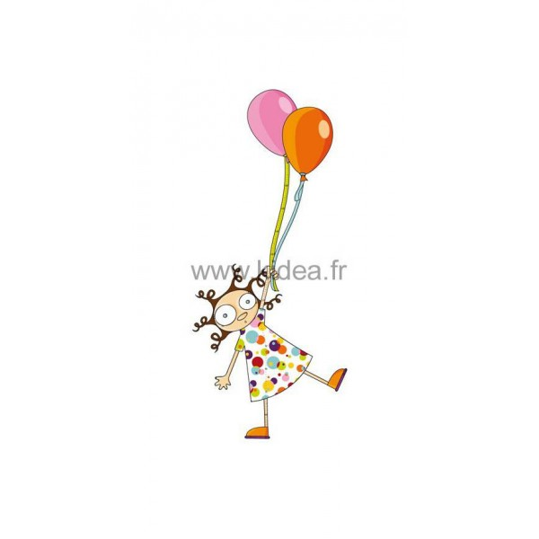 Sticker toise fille pour une d coration professionnelle for Decoration professionnelle