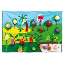 Panneau activité tissu fruits et légumes