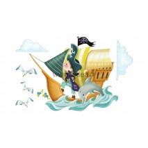 Sticker Pirate - Bateau de pirates