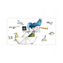 Sticker Pirate - Aux aguets !