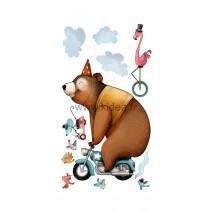 Sticker Cirque - La ménagerie en roue libre