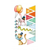 Sticker Cirque - Les animaux + Guirlande