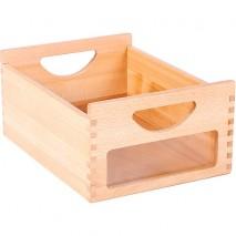 Bac de rangement bois et plexi