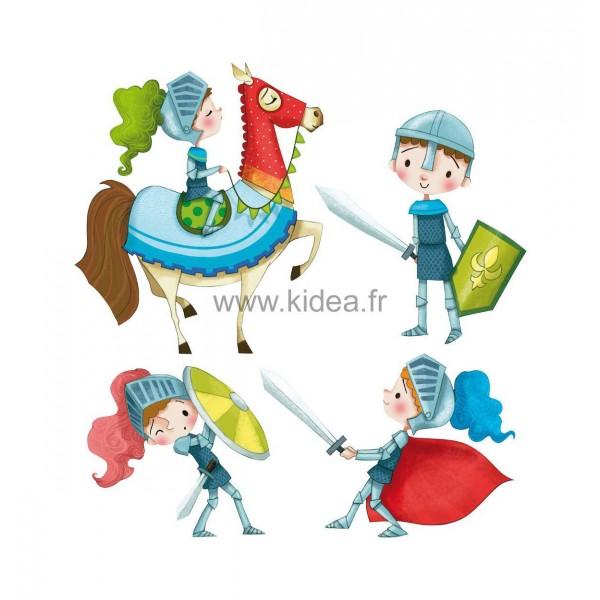 Sticker Médiéval - Les chevaliers