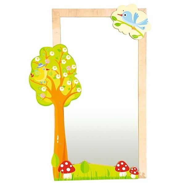 Miroir enfant nature