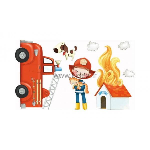 Sticker Pompier - Les Pompiers arrivent