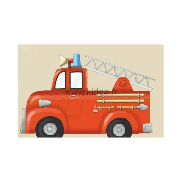 Sticker Pompier - Le camion de pompiers