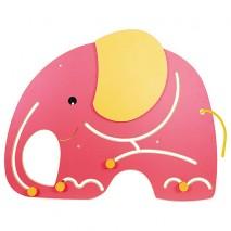 Panneau jeu mural éléphant