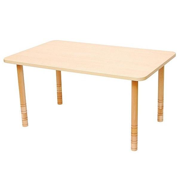 Table rectangle bois réglable