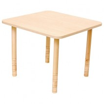 Table carrée bois réglable
