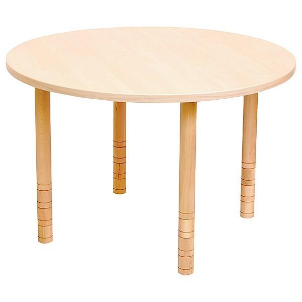 Table ronde bois réglable