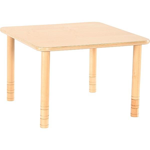 Table maternelle carrée réglable