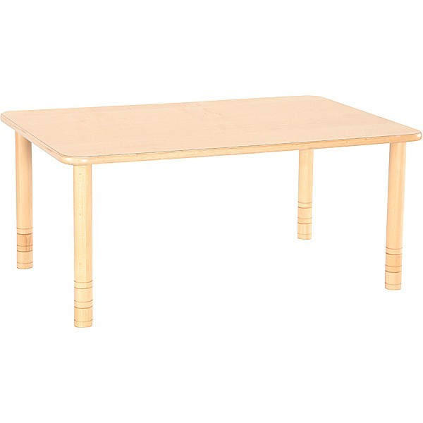 Table maternelle rectangle réglable