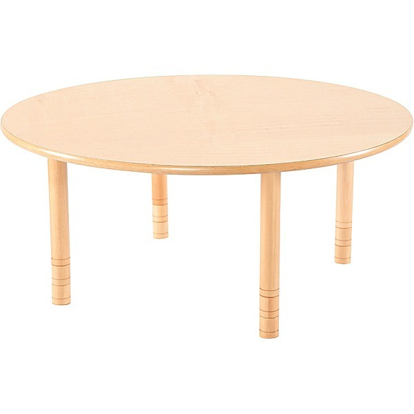 Table garderie ronde réglable