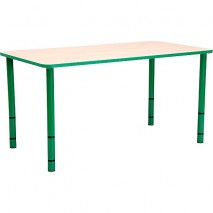 Table enfant rectangle réglable - de 40 à 58 cm