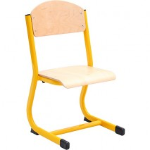 Chaise scolaire fixe