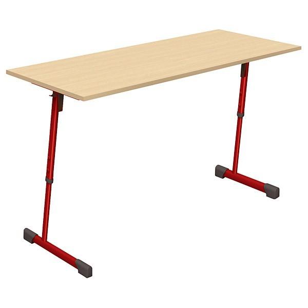 Table scolaire 2 places réglable