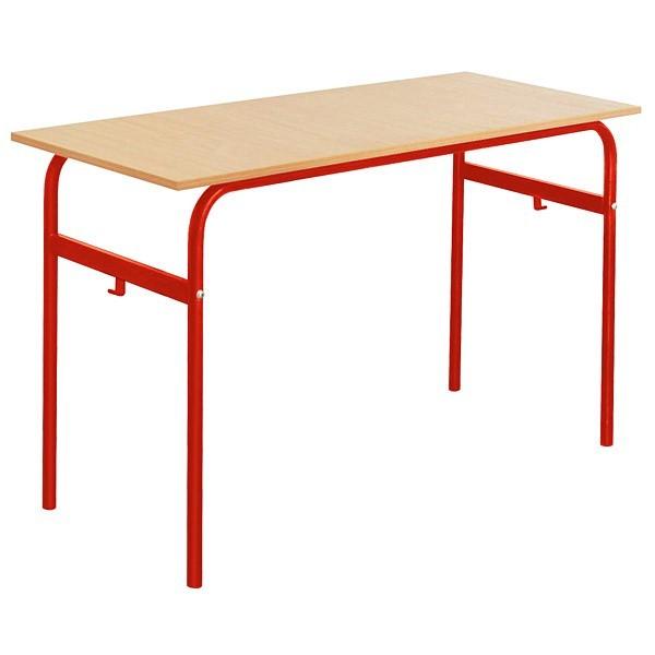 Lot de 6 tables école fixe biplace