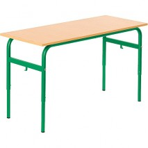 Lot de 6 tables écolier réglable