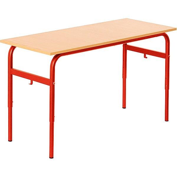 Lot de 6 tables écolier réglable