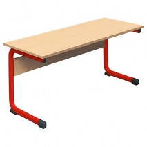 Lot de 2 tables salle de classe biplace