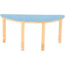 Table maternelle demi cercle réglable